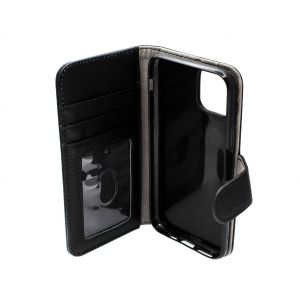 For iPhone 11 Pro Max Good Leather Wallet Black