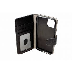 For iPhone 11Pro  Good Leather Wallet Black