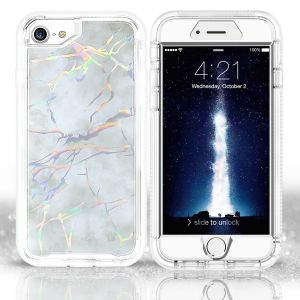 For iPhone 6/7/8/SE2020  BeeTUFF Marble White