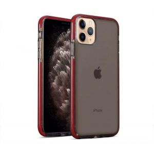 For iPhone 11 Pro Max BeeTUFF Smokey Red