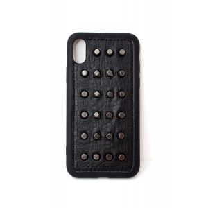 For iPhone Xs Max Black Stud Case