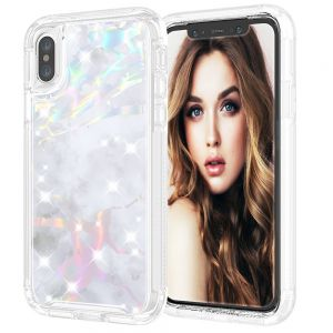 For iPhone X/Xs BeeTUFF Marble White