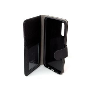 For Samsung A70 Good Leather Wallet Black