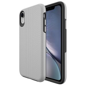 For iPhone Xr BeeTuff Triangle Silver.