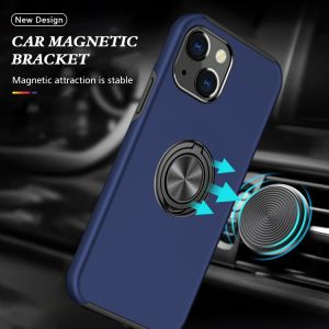 For iPhone 13 Pro Max Navy Magnetic Ring Case