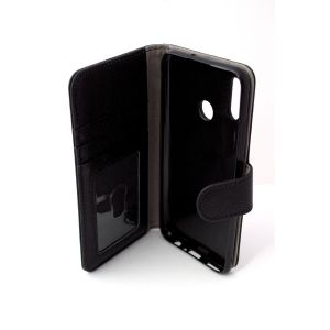 For Huawei Psmart 19/20 Good Leather Wallet Black