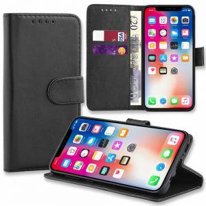 For Huawei Y6 2019 Plain Wallet Black