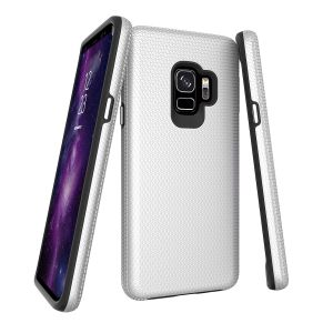 For  Samsung S9 BeeTuff Triangle Silver