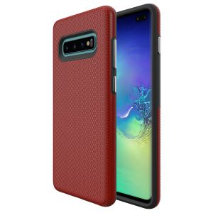 For  Samsung S10+ BeeTUFF Triangle Red