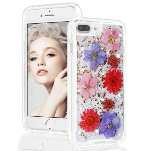 For iPhone 6+/7+/8+ BeeTUFF Flowers Rose