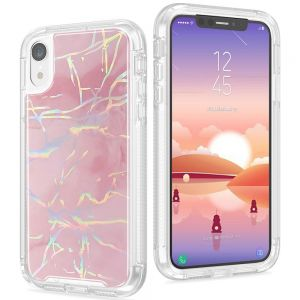 For Phone Xr BeeTUFF Marble Pink