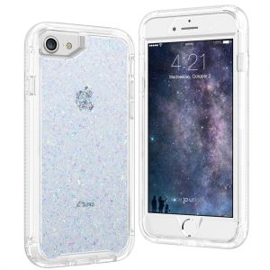 For iPhone 6/7/8/SE2020  BeeTUFF Glitter White