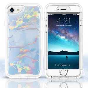 For iPhone 6/7/8/SE2020 Heavy Duty BeeTUFF Marble Blue