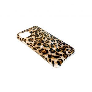 For iPhone XR Leopard Pearl Gel